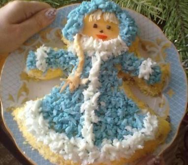 салат снігуронька