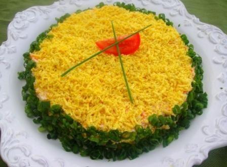 салат з горбуші