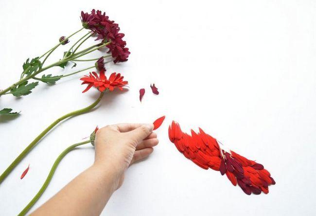 Аплікація з пелюсток квіток від Хонг Йі