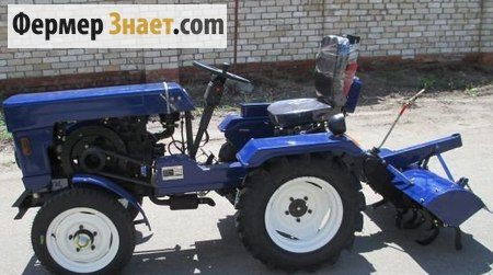 Трактор з грунтофрезою