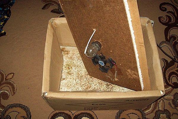 Простий інкубатор з коробки