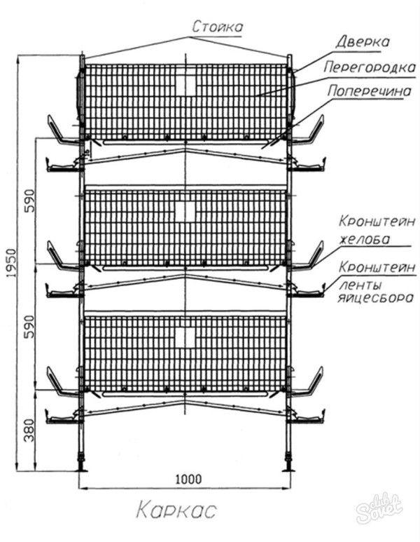 Креслення для виготовлення секцій в три поверхи