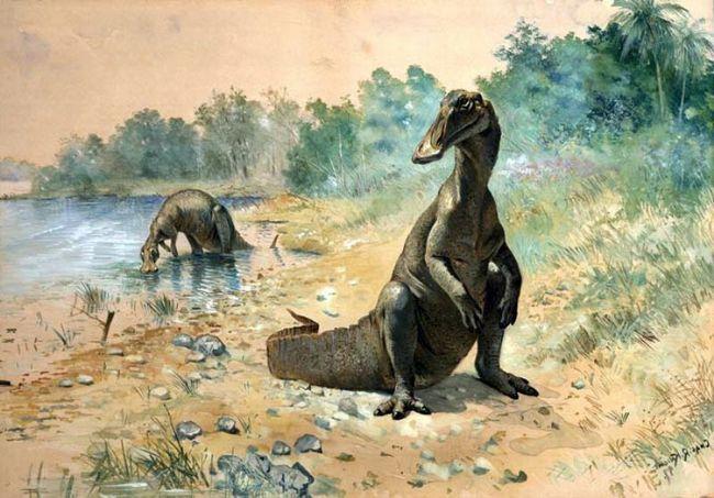 Гадрозаври харчувалися рослинною їжею.