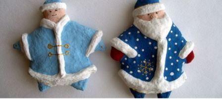 Іграшки до нового року з вати: новорічний майстер клас.
