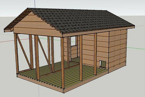 Макет майбутнього будиночка для домашньої птиці