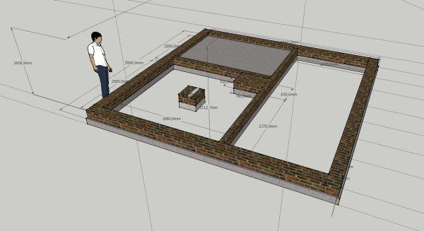 Будівництво курника починається з фундаменту