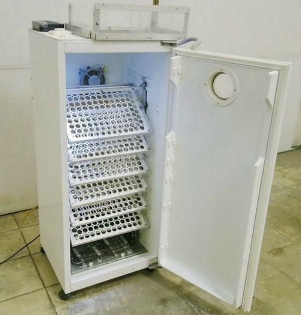 Внутрішній устрій інкубатора з холодильника