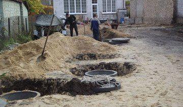 Установка каналізації в приватному будинку, kolodci.kiev.ua