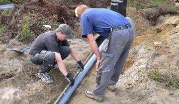 Заміри ухилу труб зовнішньої каналізації, stroy-aqua.com