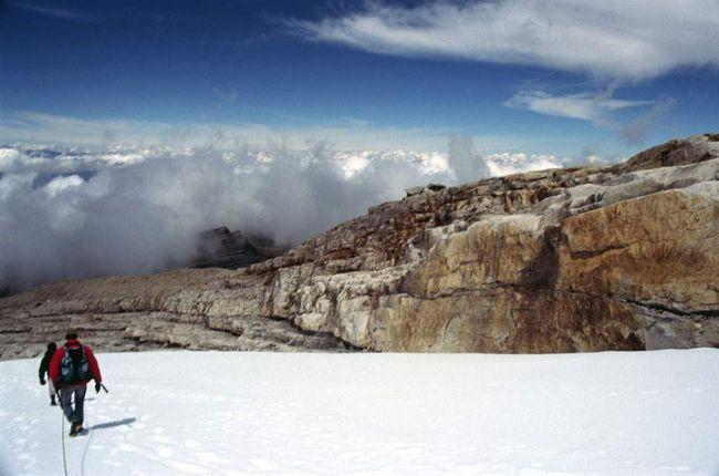 На висоті 4,57 кілометрів, під час спуску з вершини Рітакуба Бланко. Національний парк Cocuy справжній рай для альпіністів, але туристичний ринок в Колумбії тільки починає розвиватися.