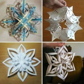 Об`ємні сніжинки з паперу своїми руками