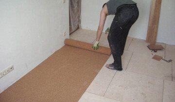 Утеплення підлоги коркової підкладкою, murakami.com.ua