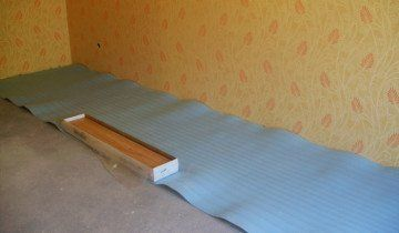 Поліпропіленова підкладка на підлозі, alisaparket.ru