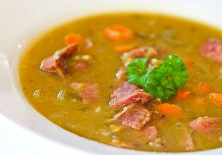 суп, гороховий, з гусём