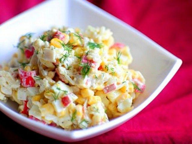 Салат «крабовий»: рецепт з фото