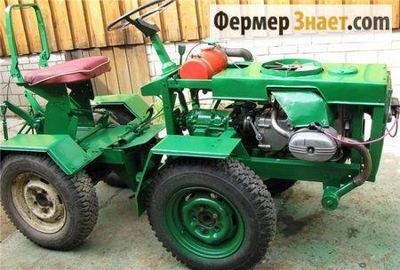 Саморобний міні-трактор на переломною рамі: як і з чого