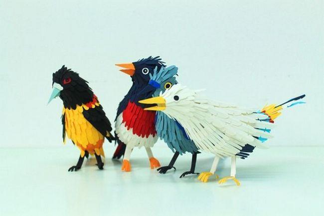 Скульптури з паперу від художниці Diana Beltran Herrera