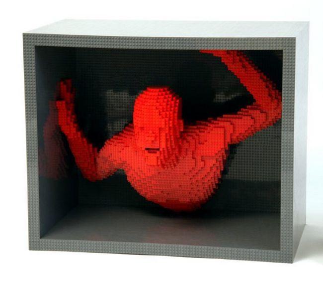 Скульптури з конструктора Lego від Натан Савайя