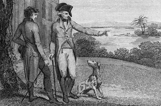 Джордж Вашингтон з американським Фоксхаунд - перший президент серйозно займався розведенням цієї породи собак