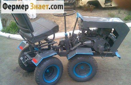 Саморобний міні-трактор з ламаються рамою