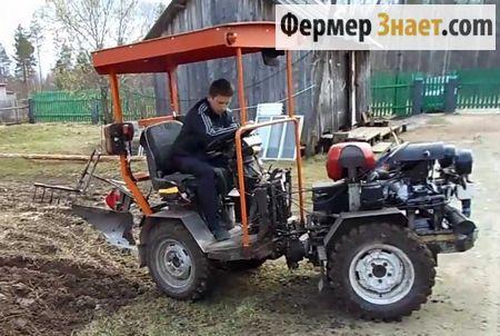 Саморобний міні-трактор 4 * 4