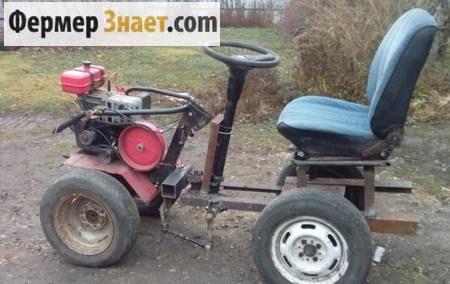 Саморобний міні-трактор 4 * 2