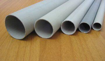 На фото пластикові труби різного діаметру, dkvartal-nsk.ru