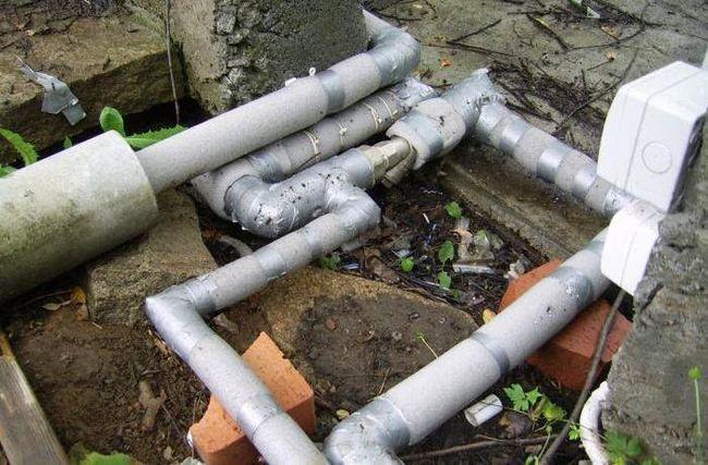 Фото утеплення водопроводу під землею
