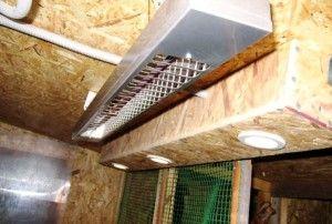 Фото лампи в курнику