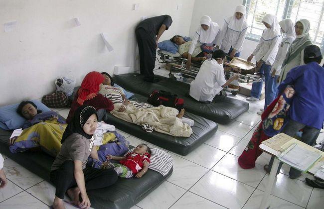 Жертви землетрусу в лікарні міста Бандунга, Західна Ява, Індонезія, в четвер, 3 вересня. (AP / Asep Buhun)