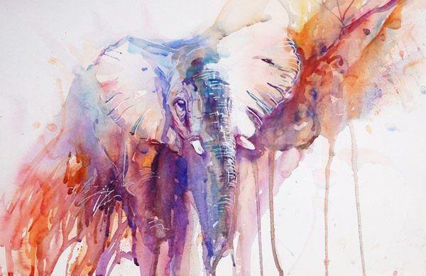 Тварини в живопису аквареллю від jean haines